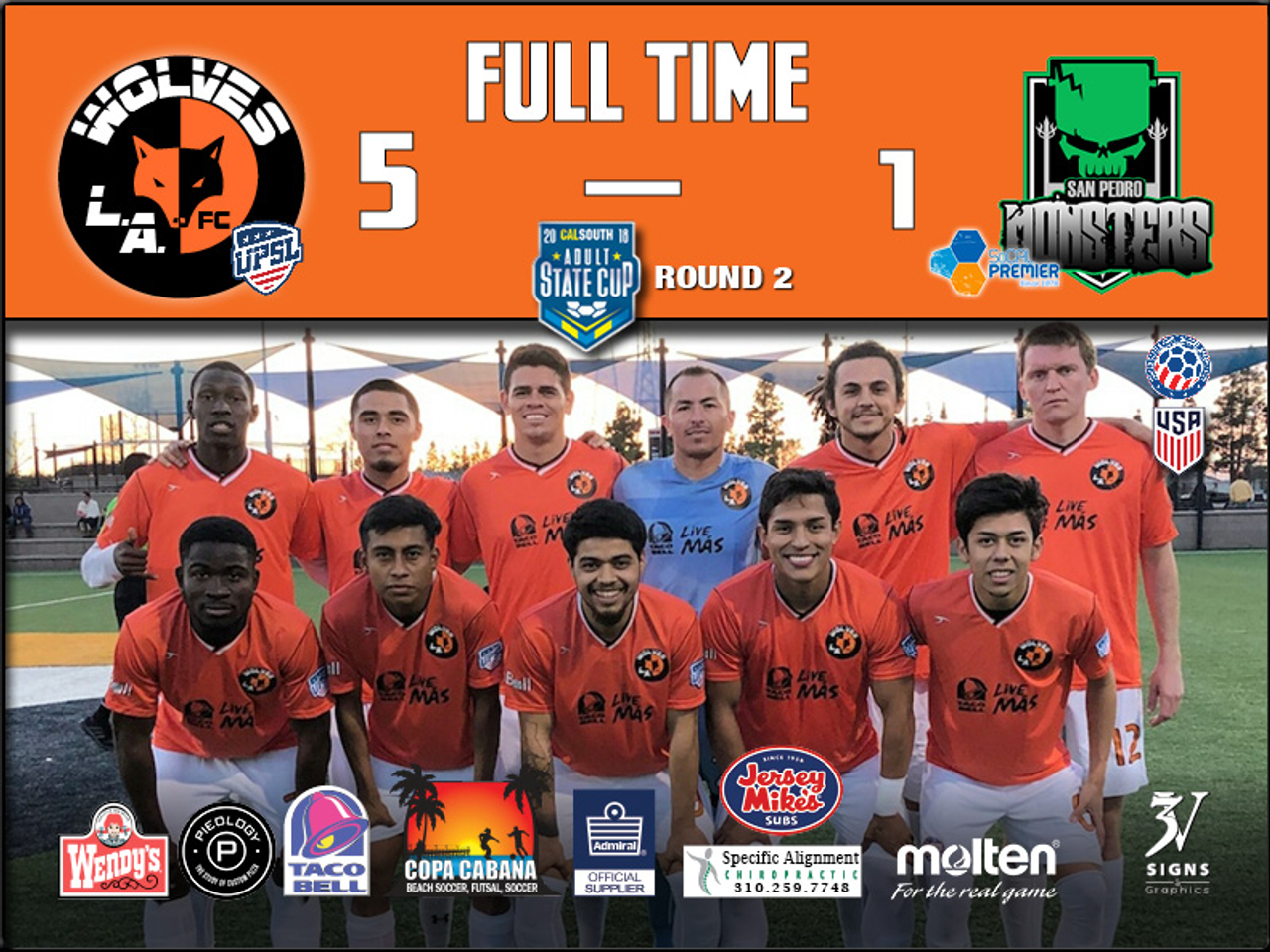 L.A. WOLVES FC ADVANCE TO ROUND 3 IN STATE CUP | L.A