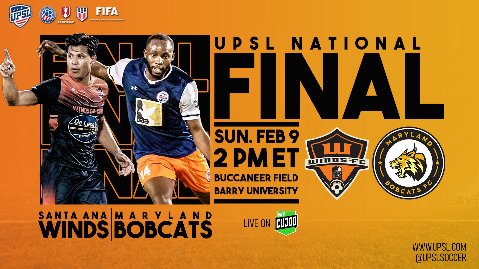 United Premier Soccer League National Final is LIVE TODAY on MyCujoo.tv