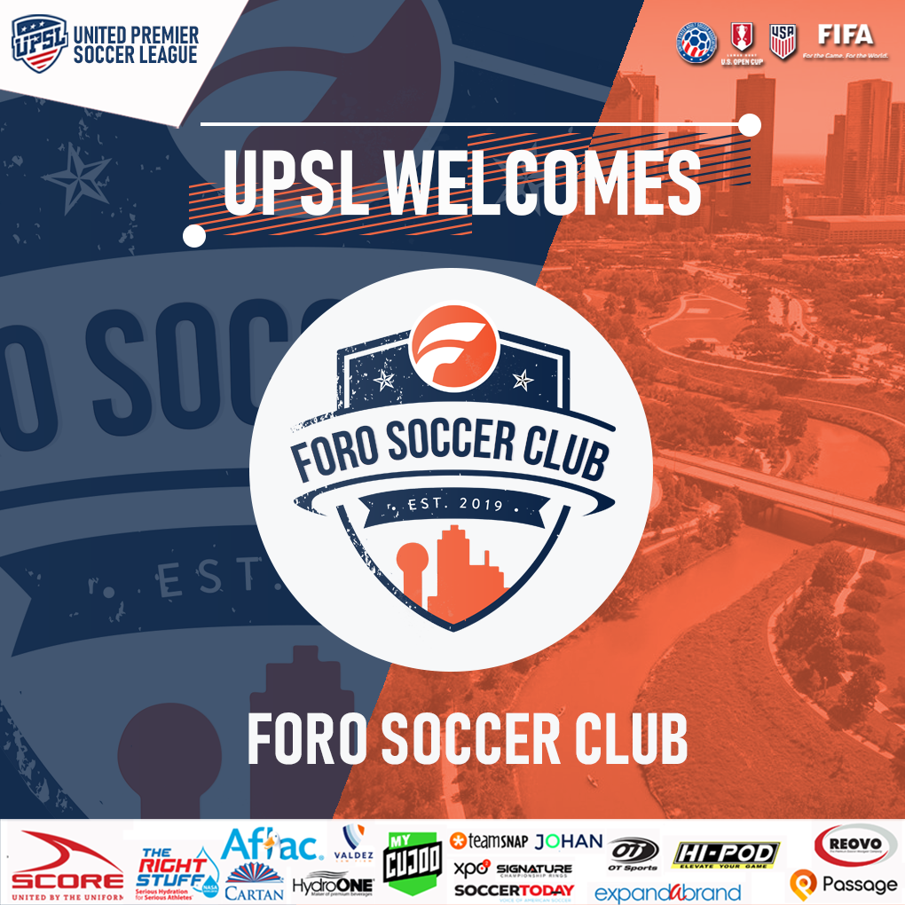 UPSL Announces North Texas Expansion with FORO Soccer Club